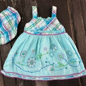 Embroidered Detail Sundress with Unders 12M